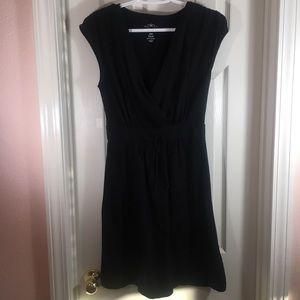 Old Navy Women's Black Dress Sleeveless Mini Wrap